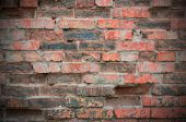 Old brick wall with vignetting. — Stock Photo