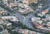 Aerial view of a turkish town — Stock Photo