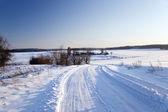 O caminho para um campo — Fotografia Stock