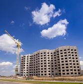 Construção do novo edifício — Fotografia Stock