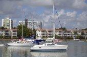 Live Aboard Sailboats — Стоковое фото