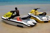 Yellow Jet Skis — Stock Photo