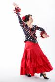 Female spanish flamenco dancer — Stock Photo