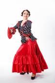 Female, spanish flamenco dancer — Stock Photo