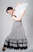 Female spanish flamenco dancer — Stock Photo