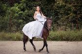 Bride on horse — Stock Photo