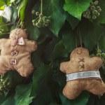 Gingerbread man handmade toy — Stock Photo #58397629