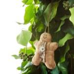 Gingerbread man handmade toy — Stock Photo #58397647