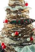 Handmade New Year tree — Stock Photo