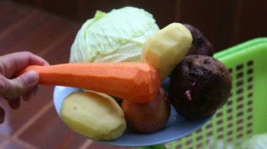 Tasty ripe vegetables — Stock Video