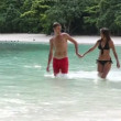 Brunette girl with handsome man in Thailand — Stock Video #60187689