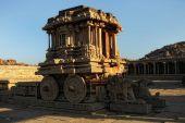Stone chariot in Hampi — Stock Photo