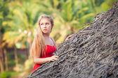 Güzel sarışın kız portresi — Stok fotoğraf