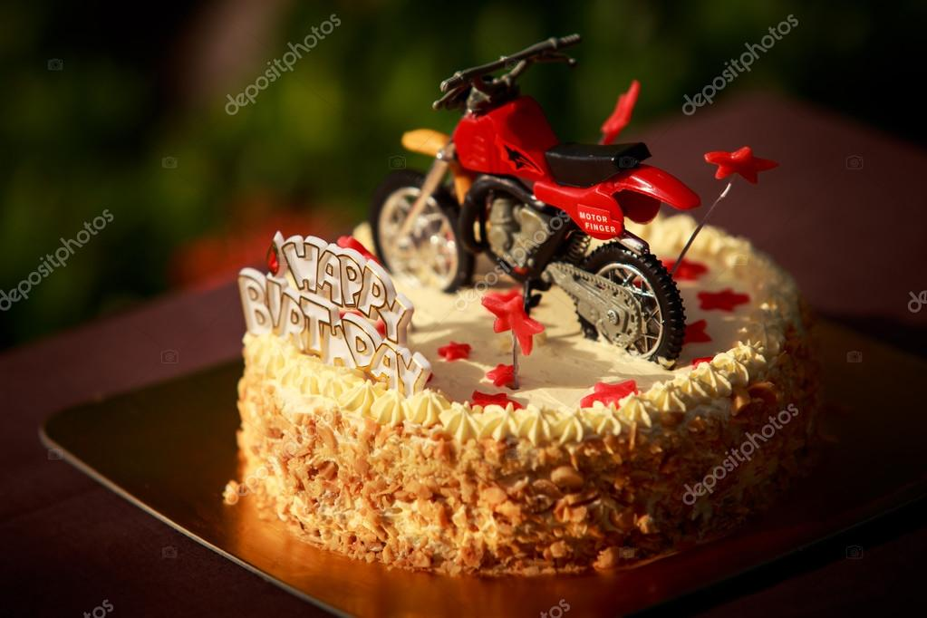 Happy Birthday Motorcycle Cake