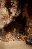 Pranang cave with many phallus — Stock Photo