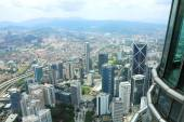 City view from the top floor of Petronas Twin Towers, Malaysia, Asia — Stock Photo