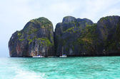 PhiPhi Maya Bay scenic view, daytime, Thailand, phuket — Fotografia Stock