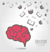 Education abstract conceptual background. — Stock Vector