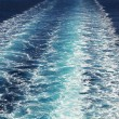 Trail of ferry on Mediterranean Sea — Stock Photo #66635397