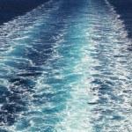 Trail of ferry on Mediterranean Sea — Stock Photo #66635397