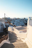 Early sunny morning on Santorini — Стоковое фото
