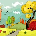 Autumn landscape — Stock Vector #53039277