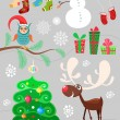 Christmas set — Stock Vector #58023185