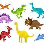 Dinos set — Stock Vector #78330174