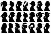 Illustration of women profiles — Stock Vector