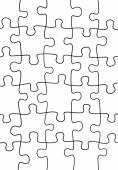 Puzzle sfondo illustrazione — Vettoriale Stock