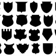 Set of different shields — Stock Vector #74335269