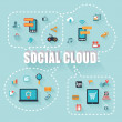 Social Cloud — Stock Photo #58173023