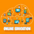 Online Education Infographic — Stock Photo #66176345