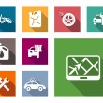 Car service flat icons set — Stock Vector #51879503