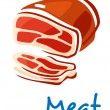 Fresh raw meat — Stock Vector
