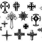 Religious crosses set — Stock Vector #51879395