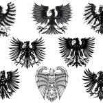 Heraldic royal medieval eagles — Stock Vector #51879407