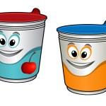 Cartoon cherry yoghurt   — Stock Vector #51879409