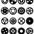 Gears and pinions set — Stock Vector #51879449