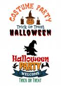 Halloween costume party banners — Stock Vector