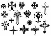 Religious crosses set — Stockvektor