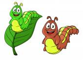 Cartoon caterpillar character  — Cтоковый вектор