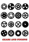 Gears and pinions set — Stock Vector