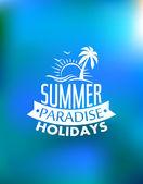Summer paradise poster design — Stock Vector