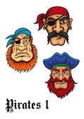 Cartoon danger pirates — Stock Vector