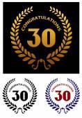 Anniversary jubilee celebration emblems — Stock Vector