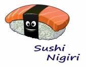 Japanese seafood sushi nigiri — Stock Vector