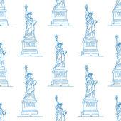 Statua wolności wzór — Wektor stockowy