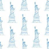 Statue of Liberty seamless pattern — Stock Vector