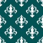 Seamless fleur-de-lis royal white pattern — Stock Vector #52422423